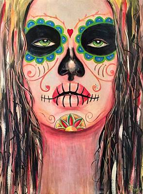 Skull Jewelry Painting - A New Friend by Randy Segura