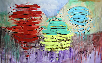 Painting - A New Heaven And New Earth Rev 21-1-4 by Anthony Falbo