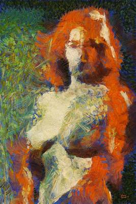 Burlesque Painting - A New Impression By Mary Bassett by Mary Bassett