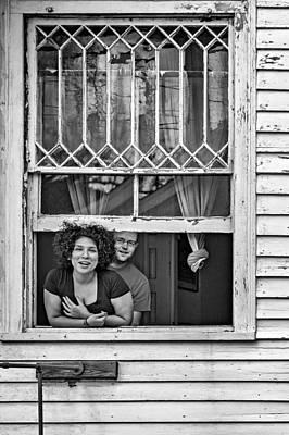 Mardi Gras Photograph - A New Orleans Greeting 2 Bw by Steve Harrington