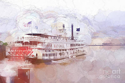 A New Orleans Riverboat Art Print
