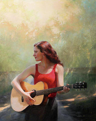 Redheads Wall Art - Painting - A New Road by Anna Rose Bain