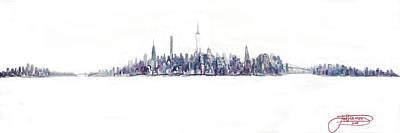 A New Year In Manhattan Art Print