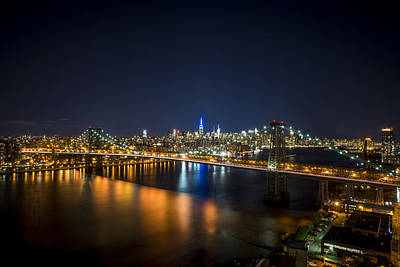 A New York City Night Print by Johnny Lam