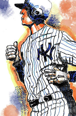 Painting - A New York Yankee by Terry Banderas