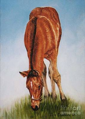 Kentucky Painting - A Nibble Here, A Nibble There by Tom Chapman