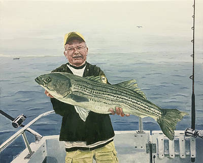 Painting - A Nice Catch by Michael Morgan