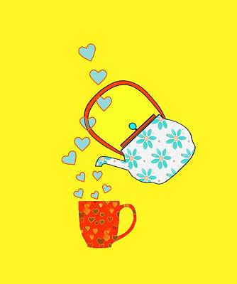 Digital Art - A Nice Cup Of Tea by Kathleen Sartoris