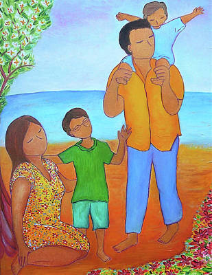 Painting - A Nice Family Of Four by Gioia Albano