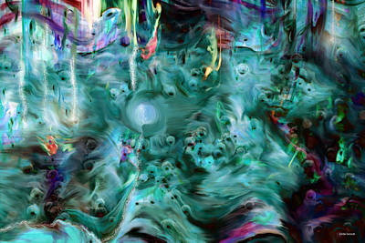 Imaginary Art Digital Art - A Nice Little Place by Linda Sannuti