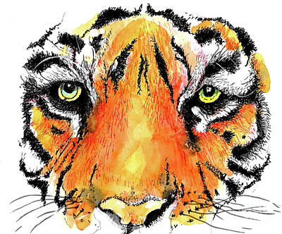 Painting - A Nice Tiger by Terry Banderas