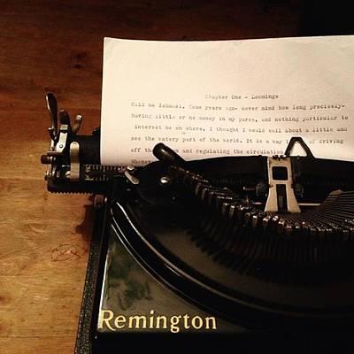 Typewriter Photograph - A Nice Typewriter .  #fetel by Dan H