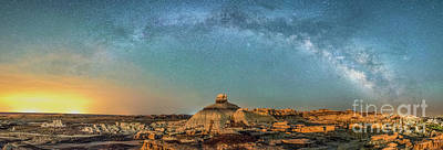 Photograph - A Night At Bisti Badlands by Robert Loe