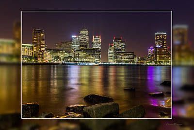 Photograph - A Night At Canary Wharf  by Ericamaxine Price