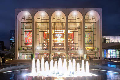 The Met Photograph - A Night At Lincoln Center by Mark Andrew Thomas