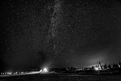 Sauble Photograph - A Night At The Beach 6 Bw by Steve Harrington