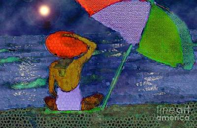 A Night At The Beach Art Print by Mimo Krouzian