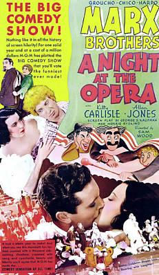 At Poster Mixed Media - A Night At The Opera 1935 by M G M