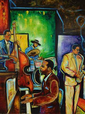 Painting - A Night For Smooth Jazz by Emery Franklin