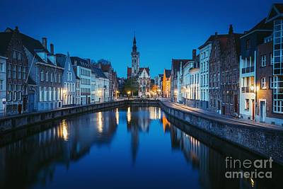 Photograph - A Night In Brugge by JR Photography