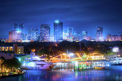 Photograph - A Night In Fort Lauderdale by Mark Andrew Thomas