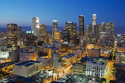 Los Angeles Skyline Photograph - A Night In L A by Kelley King