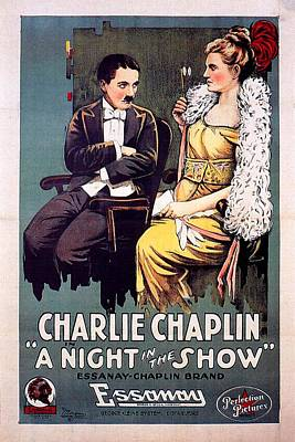 1910s Mixed Media - A Night In The Show 1915 by Mountain Dreams