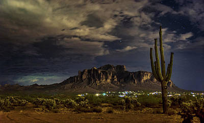 Photograph - A Night In The Superstitions  by Saija Lehtonen