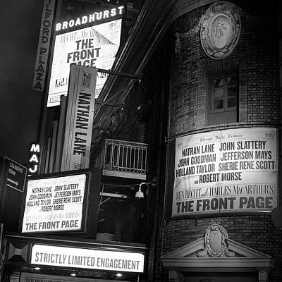 Photograph - A Night On Broadway II by Mark Andrew Thomas