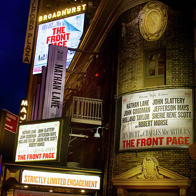 Broadway Photograph - A Night On Broadway by Mark Andrew Thomas