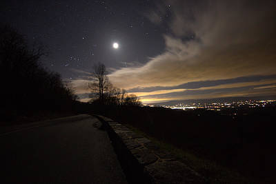 A Night On Skyline Drive Art Print by Shannon Louder