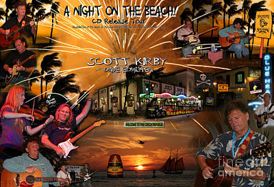 Photograph - A Night On The Beach Scott Kirby Key West Florida by John Stephens