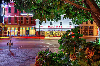 Photograph - A Night On The Bentonville Arkansas Square by Gregory Ballos