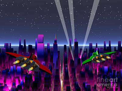 A Night On The Town Art Print by Walter Oliver Neal