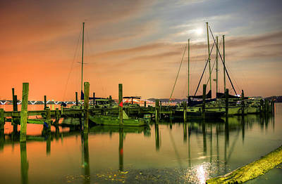 Photograph - A Night Out At The Marina by JC Findley