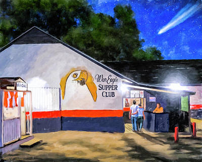 Restaurant Mixed Media - A Night To Remember In Auburn by Mark Tisdale