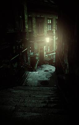 Photograph - A Night Walk by Jaroslaw Blaminsky
