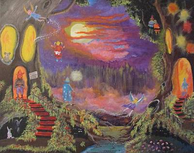 Painting - A Night With Elves And Fairies by Dave Farrow