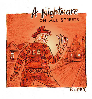 Drawing - A Nightmare On All Streets by Peter Kuper