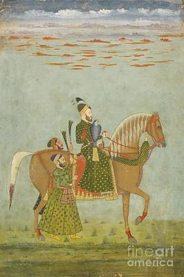 Century Painting - A Nobleman On Horseback by Celestial Images