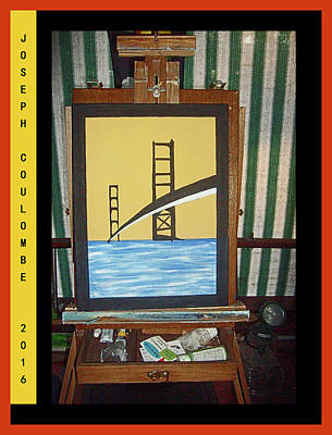 Painting - A Nor Cal Bridge 2016 by Joseph Coulombe
