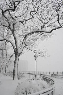 Photograph - A Nor'easter In Brooklyn by Christopher Kirby