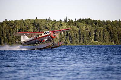 Float Plane Photograph - A Norseman Float Plane Takes Off by Pete Ryan