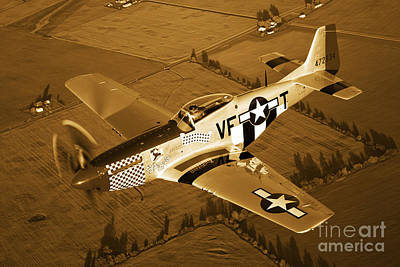 Photograph - A North American P-51d Mustang by Scott Germain