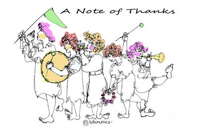 A Note Of Thanks Print by Marilyn Weisberg