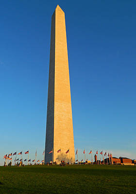 Photograph - A November Afternoon At The Washington Monument by Emmy Vickers