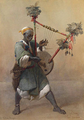 Painting - A Nubian Harper by Carl Haag