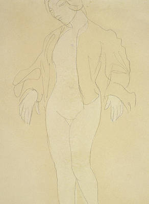 Nudes Drawing - A Nude Female Dancer by Auguste Rodin