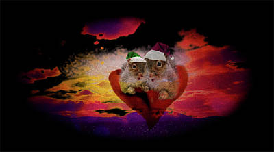 Mixed Media - A Nuttings Christmas Holiday Wish by Mike Breau