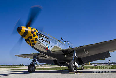 Waukegan Photograph - A P-51 Mustang At Waukegan, Illinois by Rob Edgcumbe